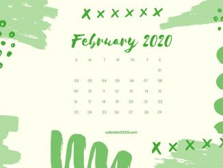 February 2020 Calendar Desktop Wallpaper