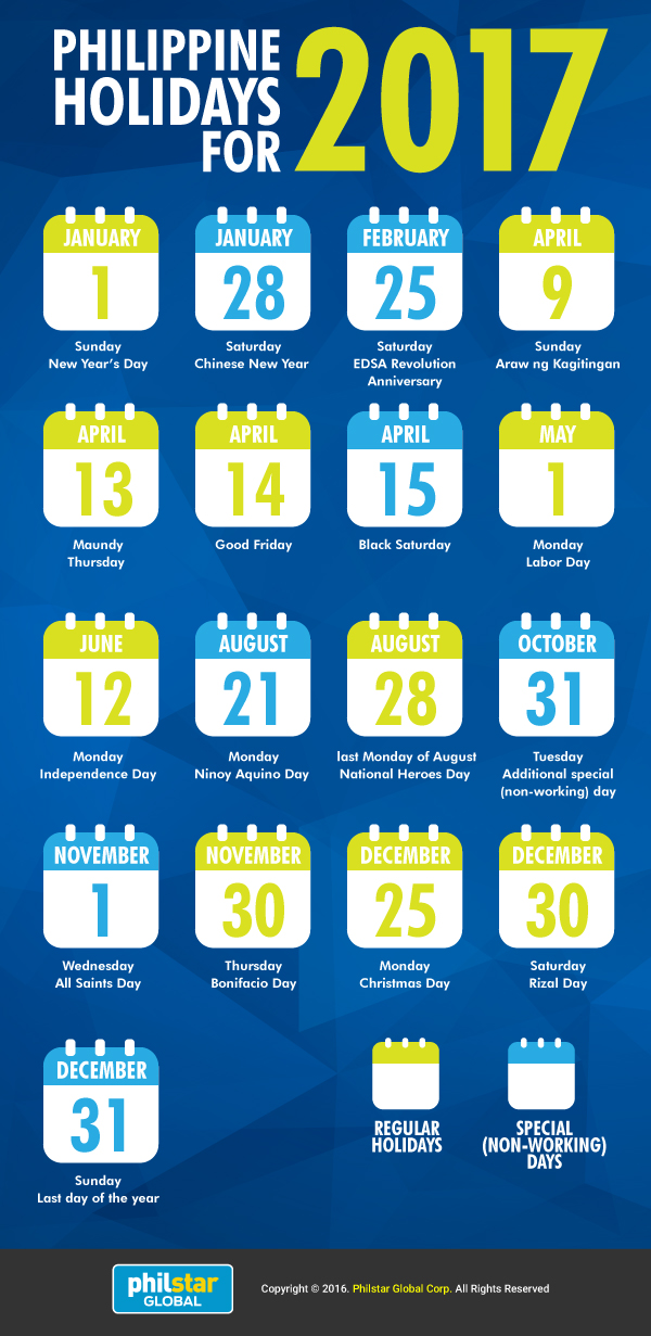 june 2017 calendar with holidays philippines