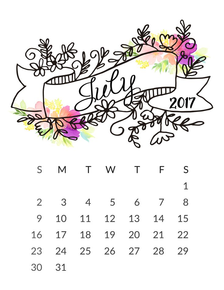 july 2017 calendar wallpaper