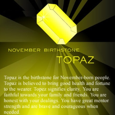 Birthstone November Month Meaning