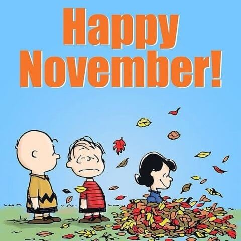 Happy November Images Snoopy