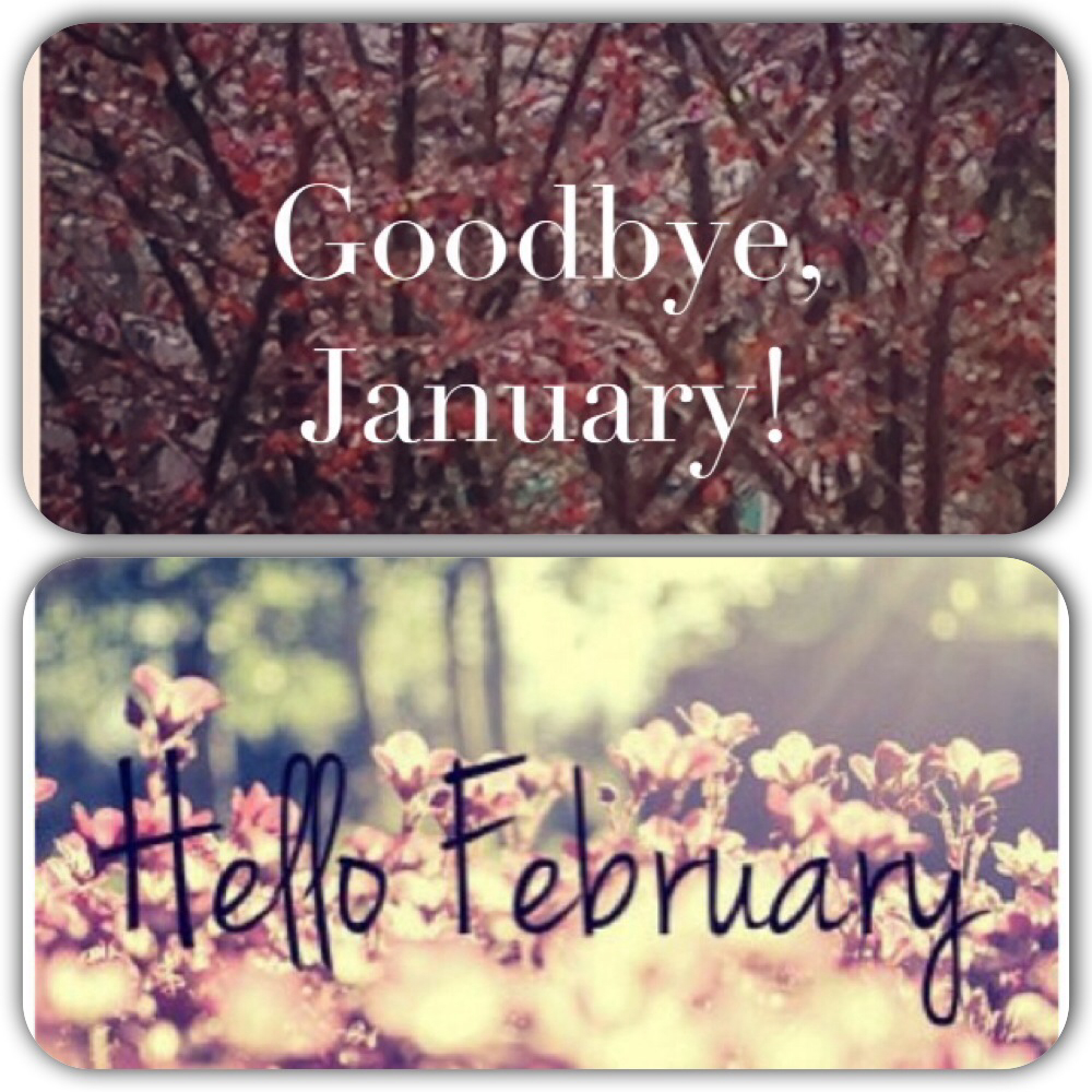 Goodbye January and Hello February Images