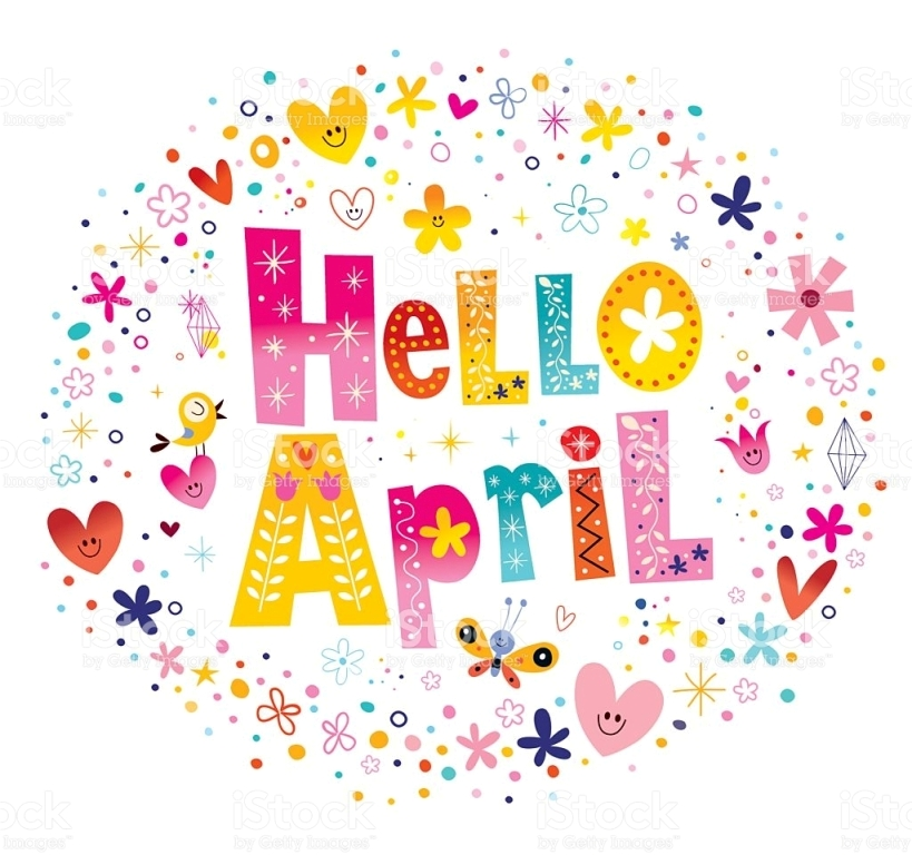 Hello April Clipart