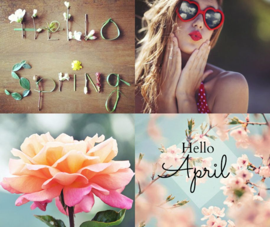 Hello April Spring Images
