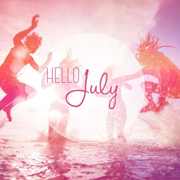 Hello July Facebook Cover Images