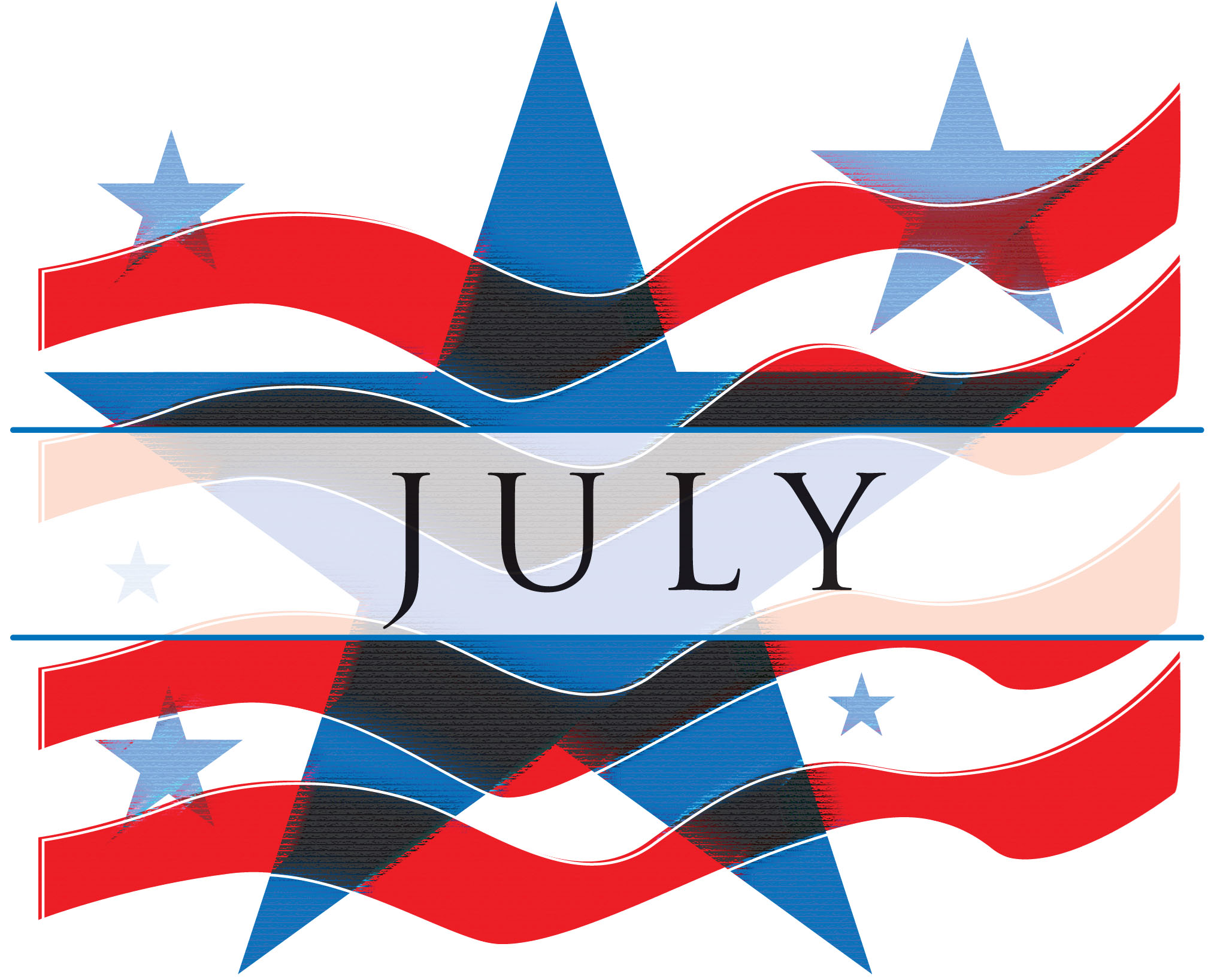July Clipart PNG