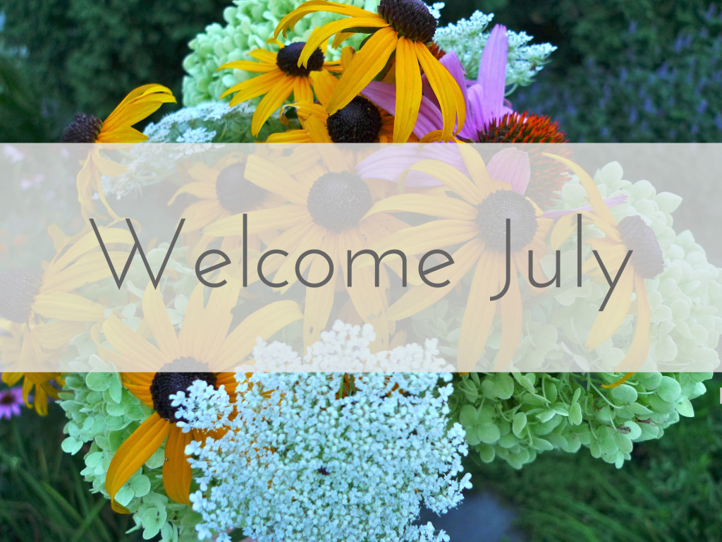 Welcome July Images with Flower