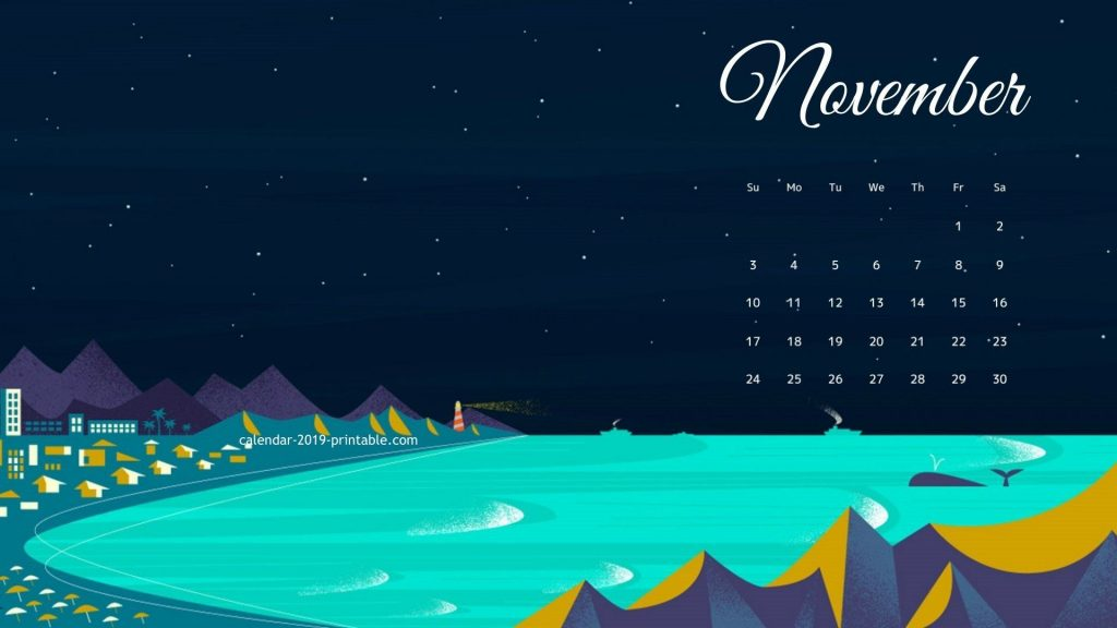 november 2019 hd wallpaper calendar