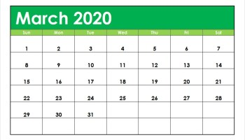 Cute March 2020 Calendar Printable