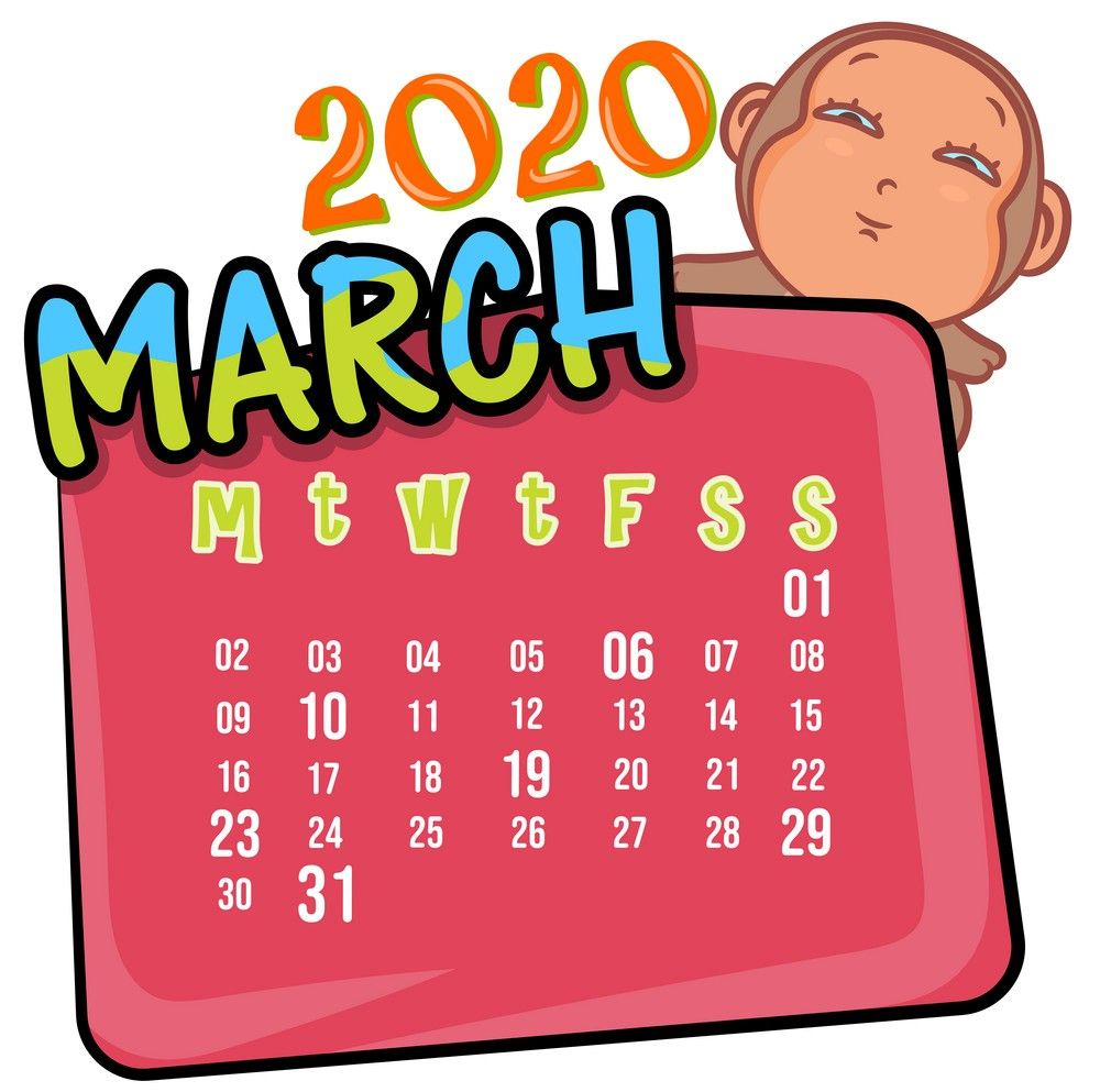 March 2020 Desk Template